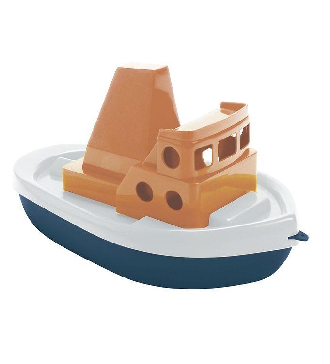 Image of Dantoy BIO Plastic Båd - 32 cm - Blå/Orange (TG666)