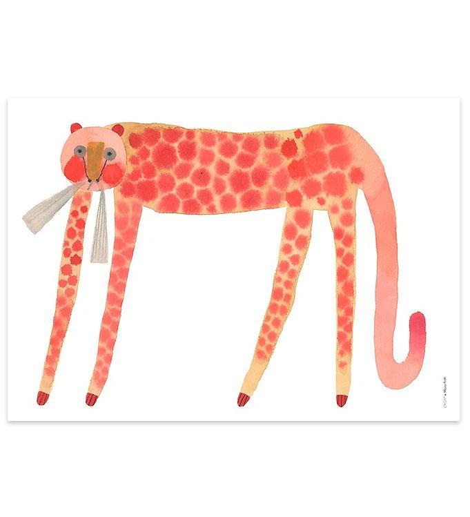 Image of OYOY Plakat - 50x70 - Strawberry Cat (TH134)