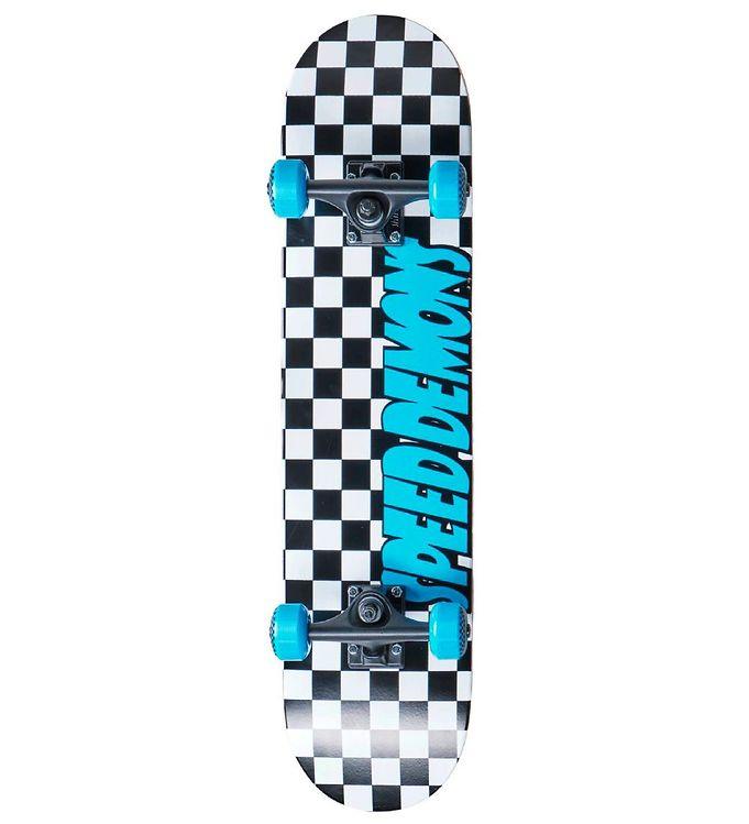 Image of Speed Demons Skateboard - 7.75'' - Checkers Komplet - Blå (TH227)