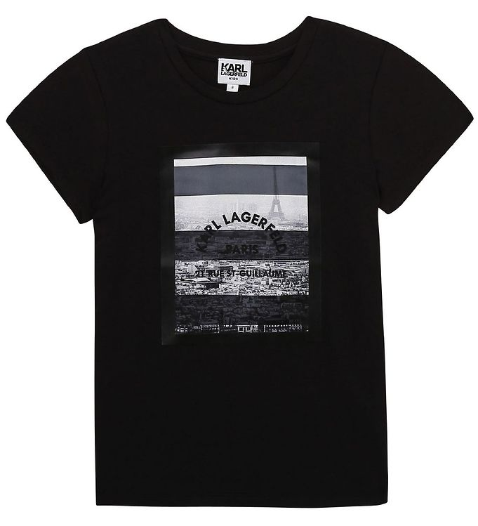 Image of Karl Lagerfeld T-shirt - Digit Aesthetic - Sort m. Print (UA061)