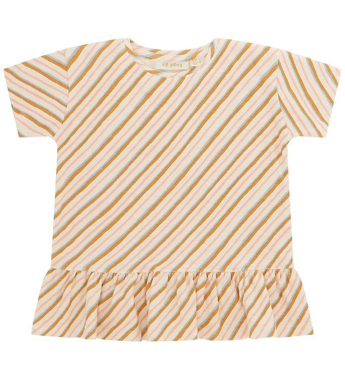 Image of Soft Gallery T-shirt - Acey - Gardenia m. Striber (UA734)