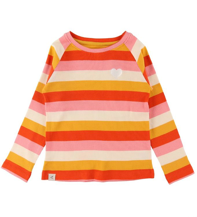 Image of AlbaBaby Bluse - Rib - All You Need - Strawberry Ice Stripes (UB445)