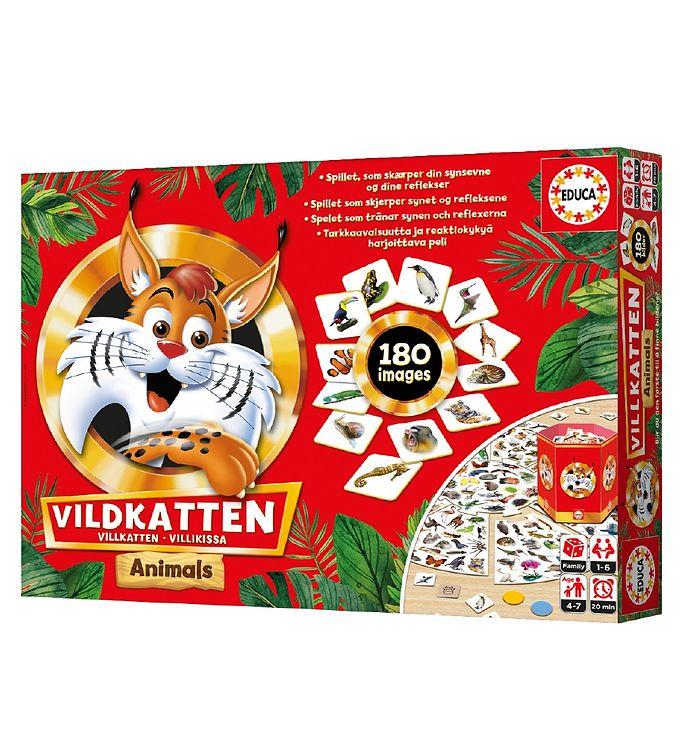 Image of Educa Brætspil - Vildkatten Animals (UB537)