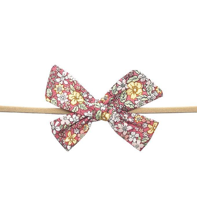 Image of Bows By Stær Hårbånd - Gry - Pink/Gul Blomstermix (UB633)