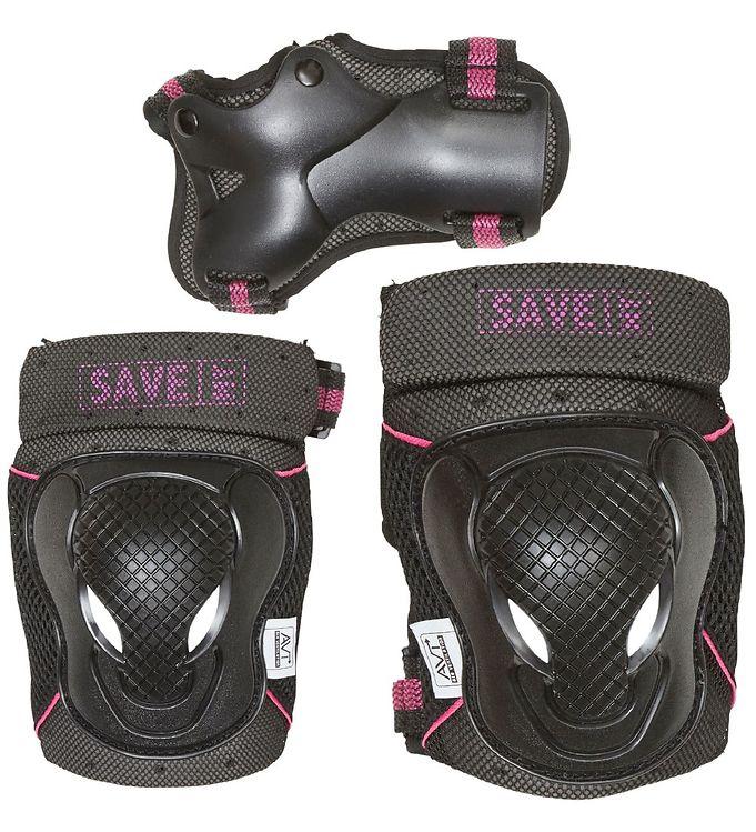Image of Save My Bones Beskyttelsessæt - Sort/Pink (UB650)