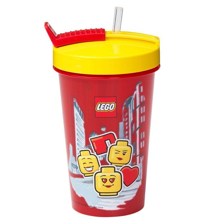Image of Lego Storage Drikkedunk m. Sugerør - 500 ml - Iconic Girl - Brig (UC482)