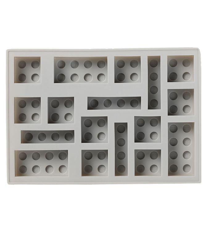 Image of LEGO Storage Isterningebakke - 17x12 cm - Medium Stone Grey (UC492)