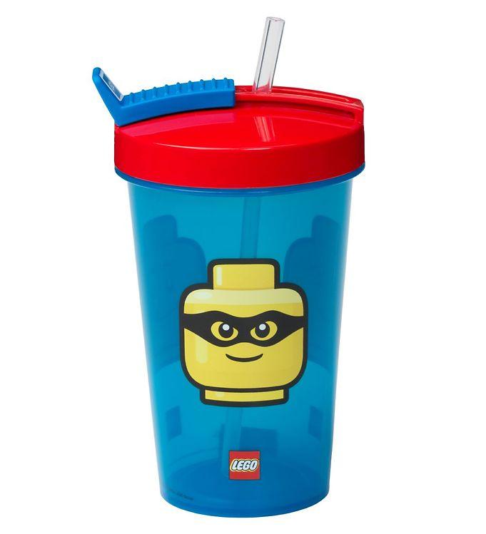 Image of Lego Storage Drikkedunk m. Sugerør - 500 ml - Iconic Classic - B (UC495)