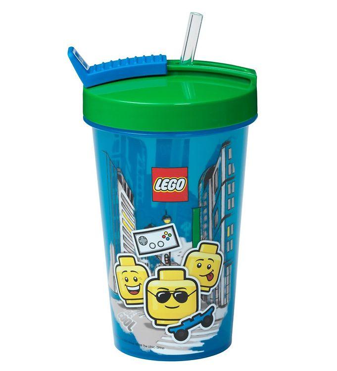 Image of Lego Storage Drikkedunk m. Sugerør - 500 ml - Iconic Boy - Brigh (UC504)