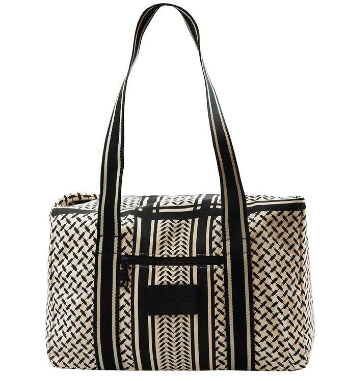 Image of Lala Berlin Taske - Big Bag Muriel - Kufiya Offwhite/Sort (UC573)
