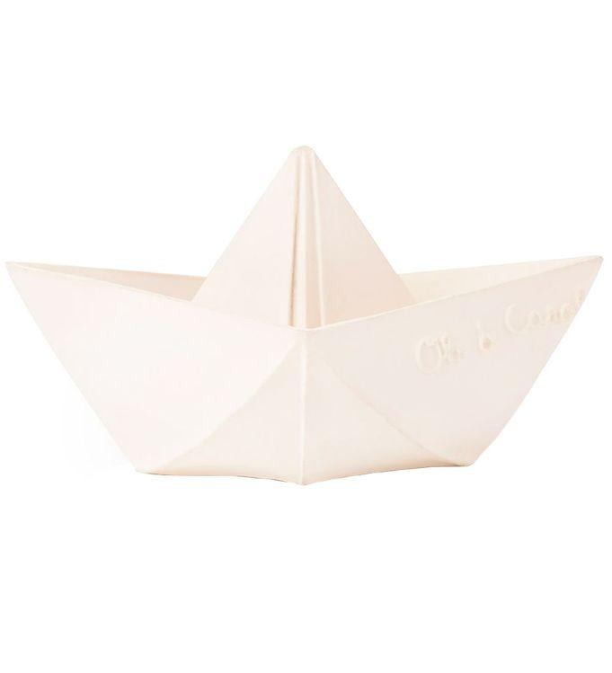 Image of Oli & Carol Badelegetøj - Naturgummi - Origami - Hvid Båd (UC855)