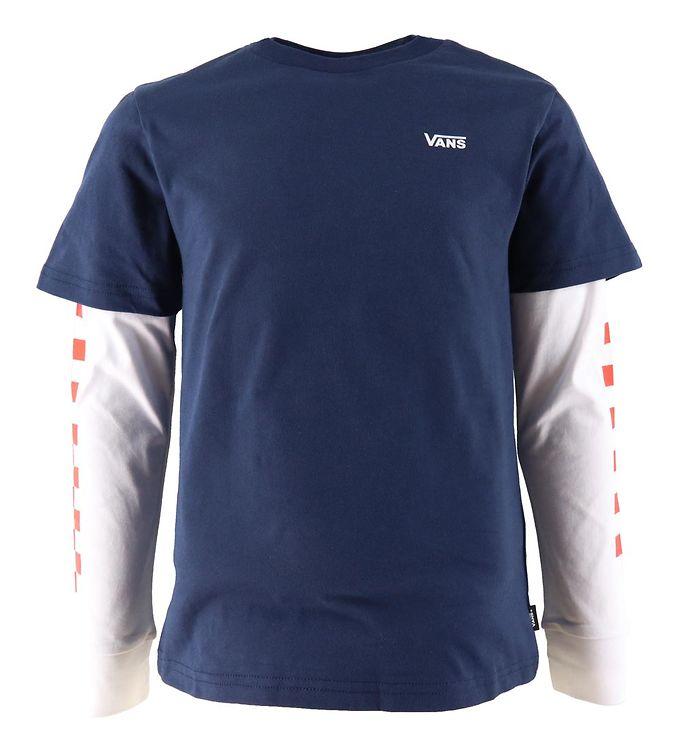 Image of Vans Bluse - Long Check - Dress Blues (UD305)