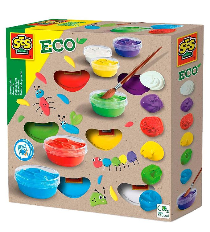 Image of SES Creative Plakatfarver - ECO - 6x45 ml (UD473)