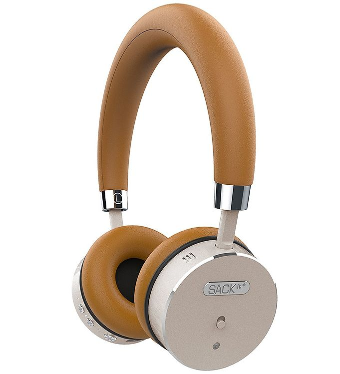 Image of SACKit Høretelefoner - WOOFit - On-Ear - Wireless - Golden (UD733)