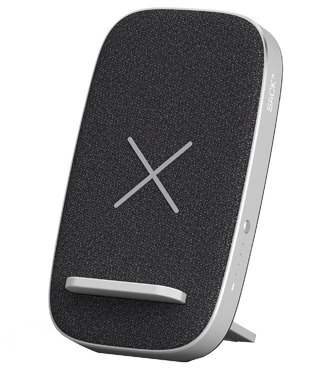 Image of SACKit Oplader/Powerbank - CHARGEit Stand Care - Wireless - Sort (UD756)