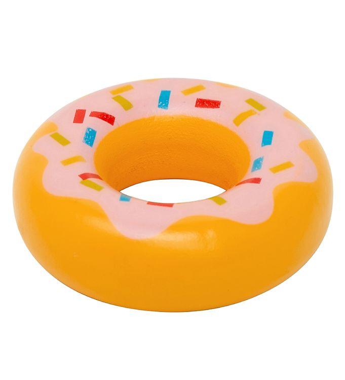 MaMaMeMo Legemad - Træ - Donut m. Pink Glasur
