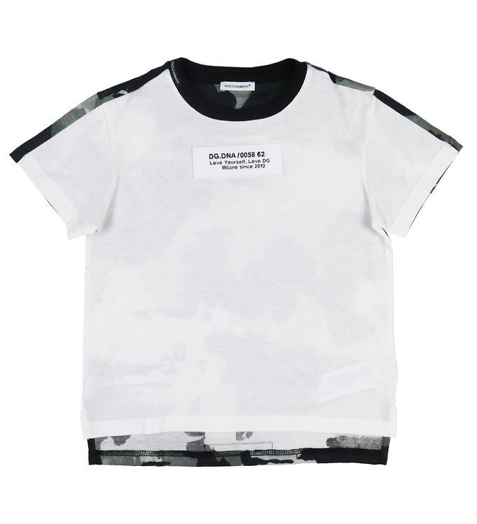 Dolce & Gabbana T-shirt - Hvid/Grå Camouflage