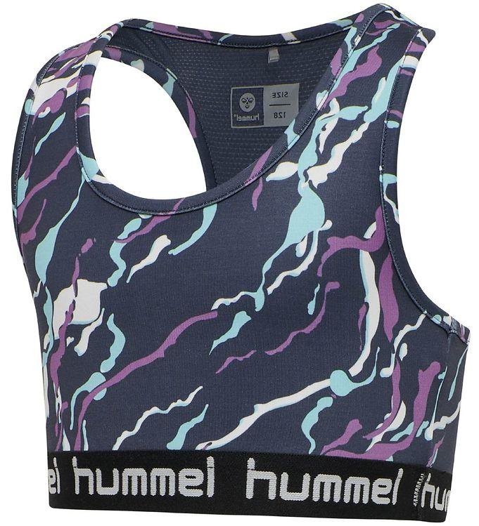 Image of Hummel Træningstop - hmlMimmi - Mørkegrå m. mønster (VA530)