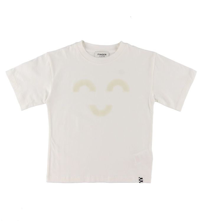 Image of Finger In The Nose T-shirt - King - Off White Macaroni m. Ansigt (VA797)