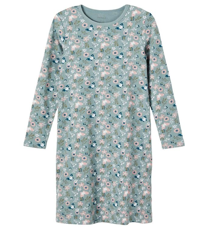 Name It Natkjole - NkfNightgown - Noos - Lead m. Rosa Blomster