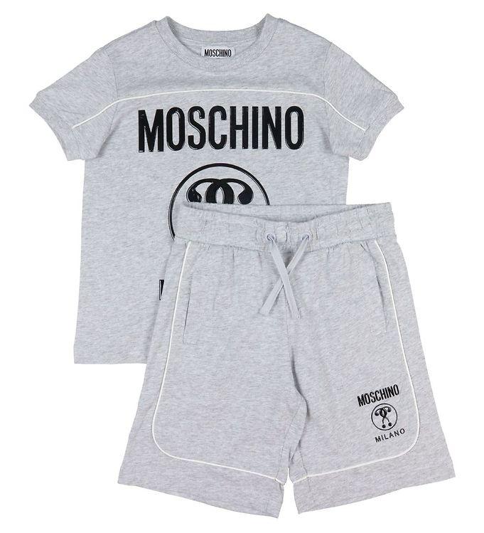Image of Moschino Sæt - T-shirt/Shorts - Gråmeleret (VB177)
