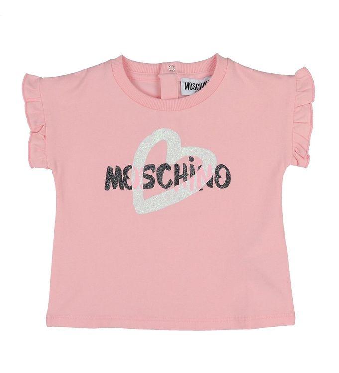 Image of Moschino T-shirt - Lyserød m. Logo (VB184)