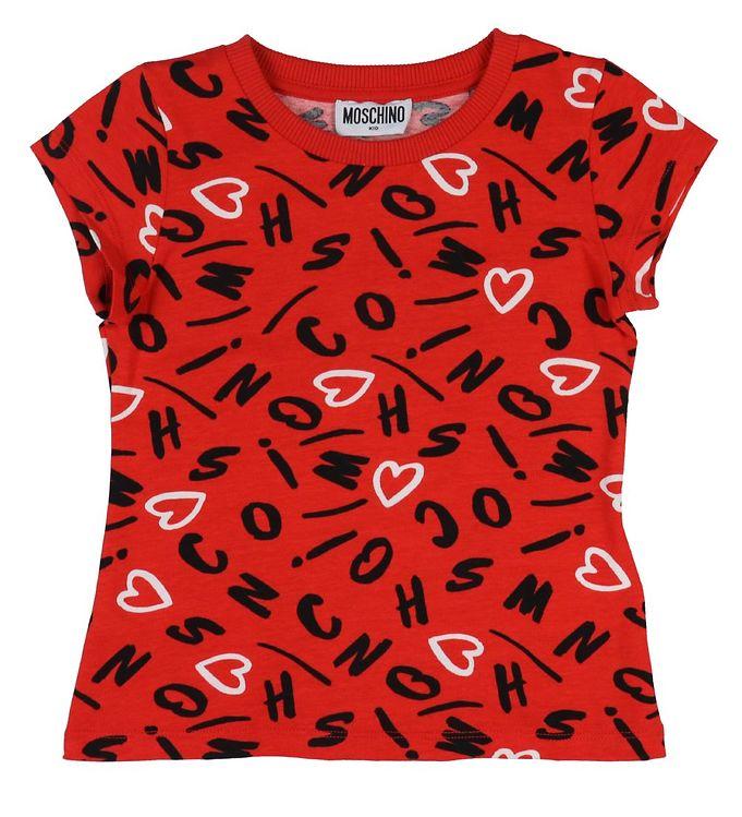 Image of Moschino T-shirt - Rød m. Print (VB185)