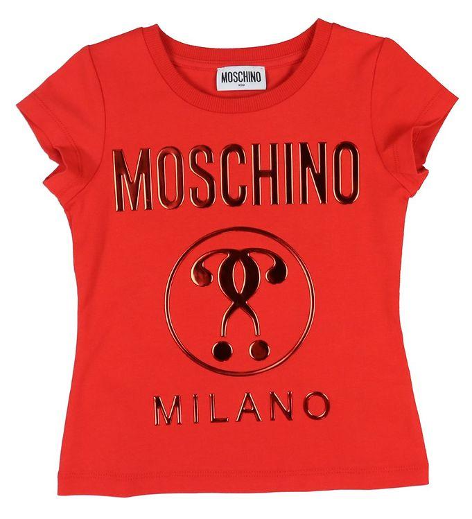Image of Moschino T-shirt - Rød m. Logo (VB190)