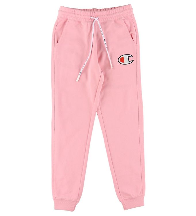 Champion Fashion Sweatpants - Rosa m. Logo