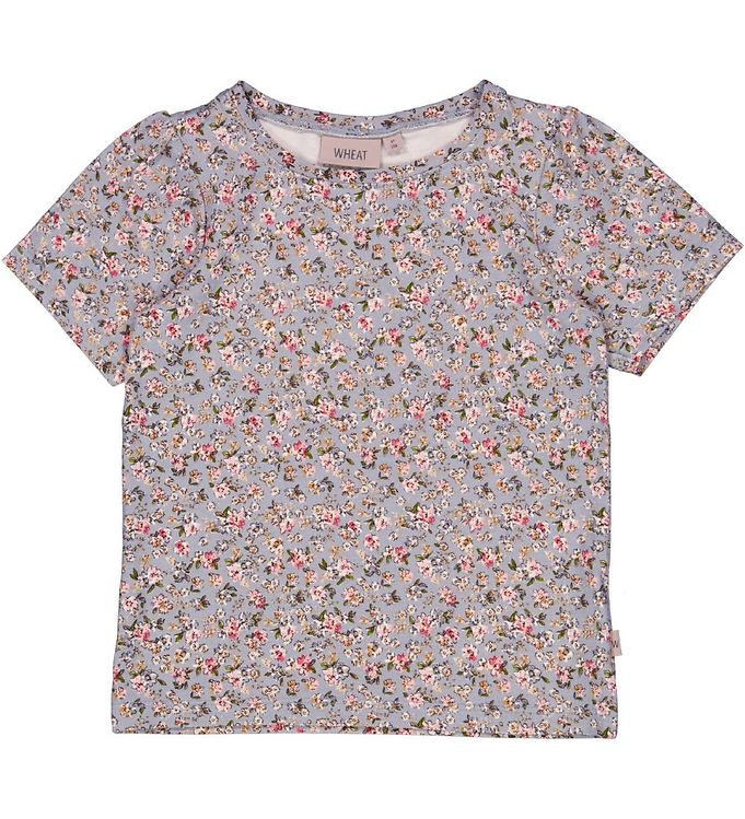 Image of Wheat T-shirt - Milka - Dusty Dove Flowers (VC364)