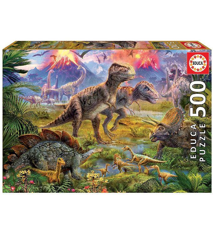 Image of Educa Puslespil - 500 Brikker - Dinosaur Gathering (VC481)