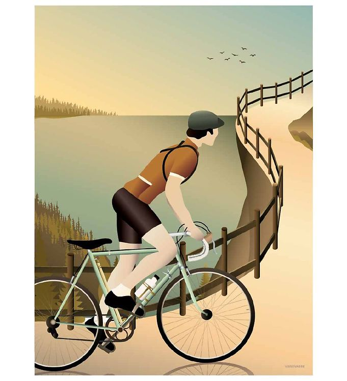 Image of Vissevasse Plakat - 30x40 - Cycling In The Hills (VC687)