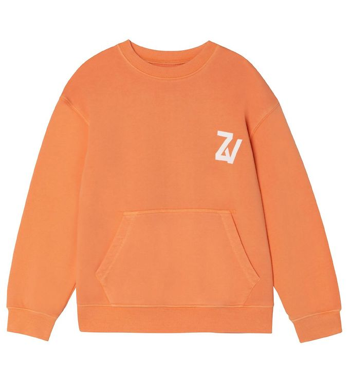 Image of Zadig & Voltaire Sweatshirt - Young Free - Nectarine (VD506)
