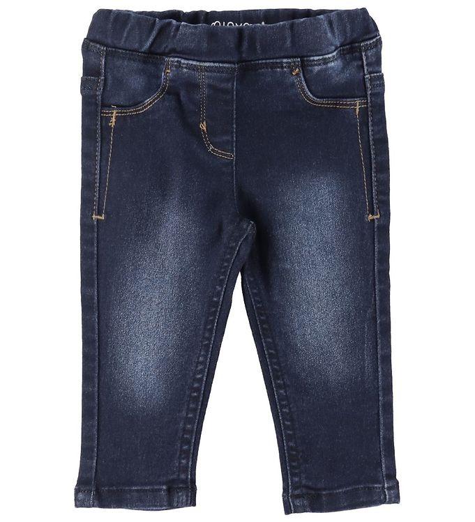 Minymo Bukser - Stretch Slim Fit - Mørkeblå Denim