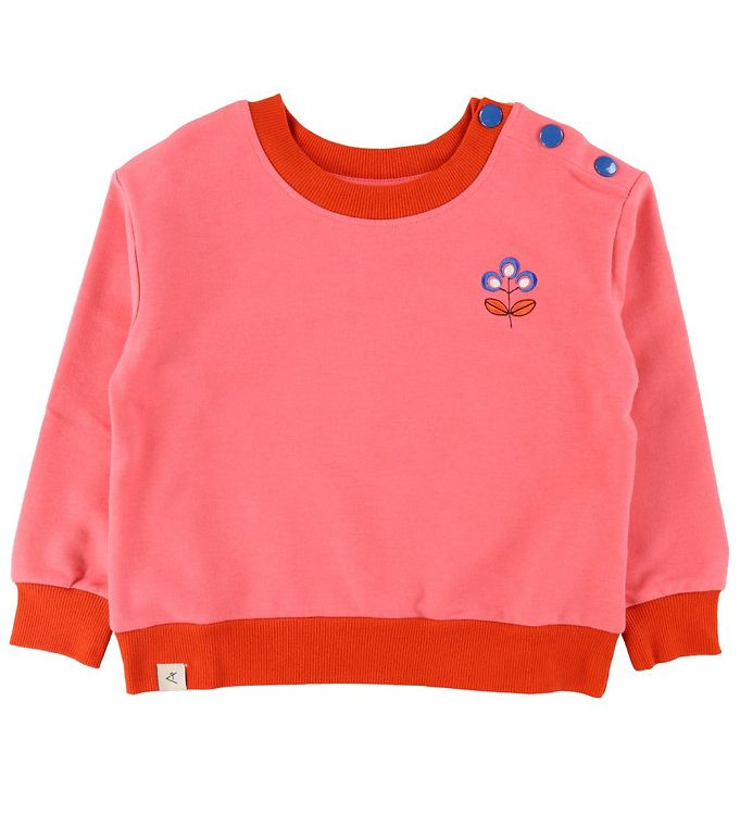 Image of AlbaBaby Sweatshirt - I Love You - Sun Kissed Coral (VE028)