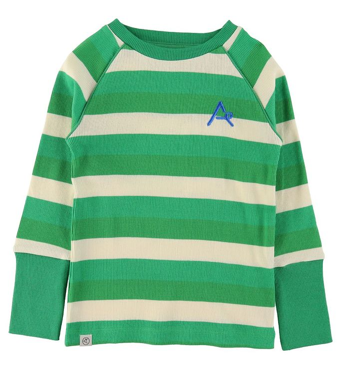 Image of AlbaOriginal Bluse - Our Favorite - Rib - Kelly Green Stripes (VE039)