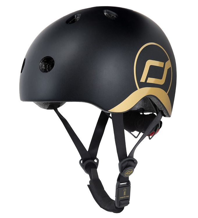 Image of Scoot and Ride Cykelhjelm - Sort/Guld (VE788)