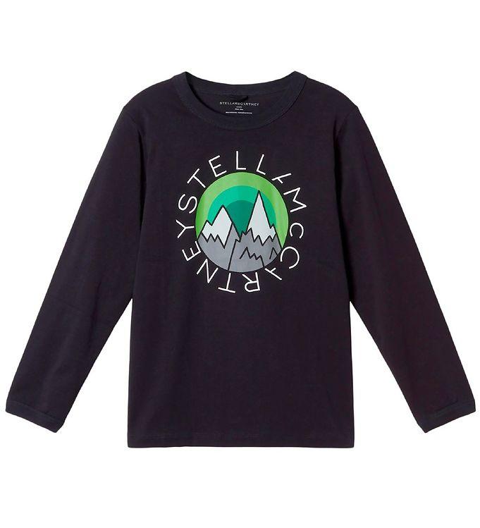 Image of Stella McCartney Kids Bluse - Logo Disk Mountain - Sort (VF029)