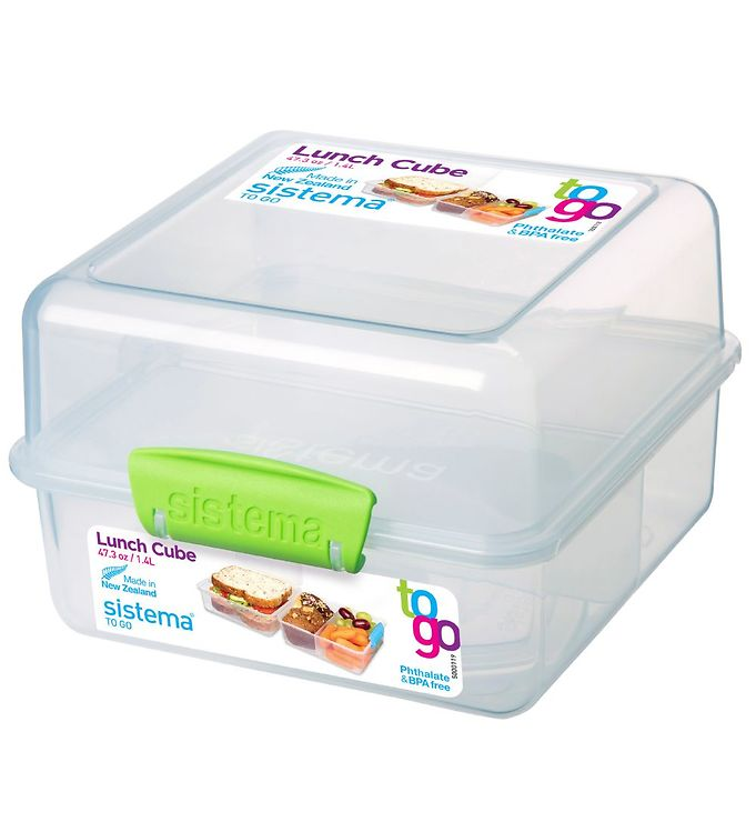 Image of Sistema Madkasse - Lunch Cube - 1,4 l - Grøn (X225)