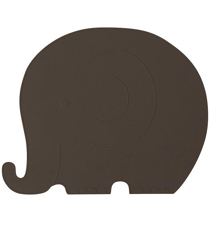 Image of OYOY Dækkeserviet - Henry Elefant - Choko (X262)