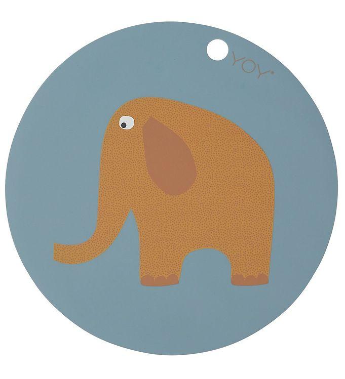 Image of OYOY Dækkeserviet - Elephant - Tourmaline (X311)