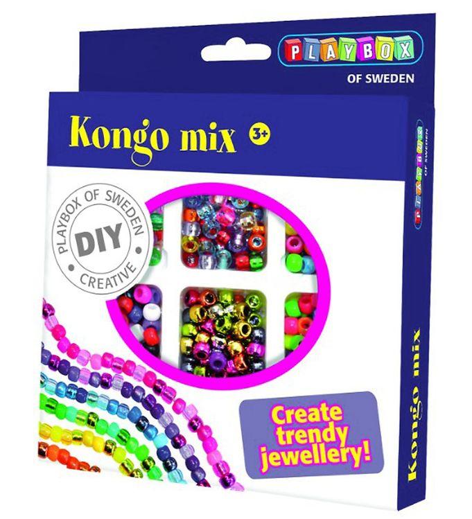 Image of Playbox Perlesæt - 480 stk - Kongo Mix (XA037)