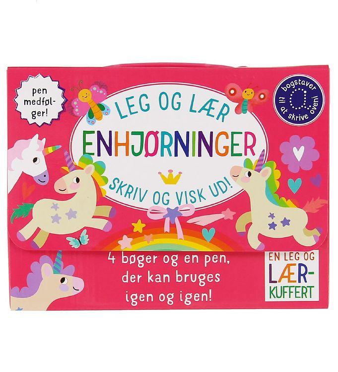 Image of Karrusel Forlag Kuffert m. Bøger - Leg og Lær - Enhjørning (XA144)