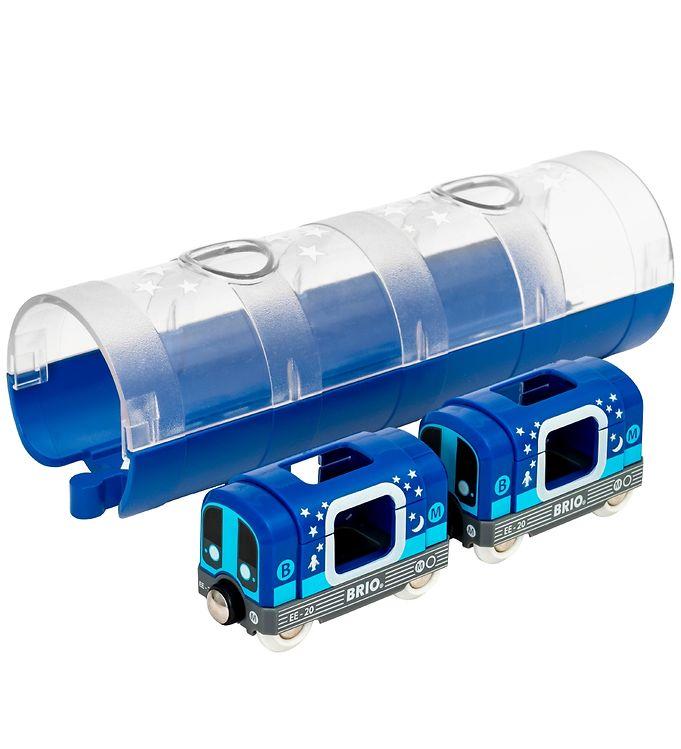 BRIO World Metro m. Tunnel - 3 dele - Selvlysende - BRIO,BRIO Trælegetøj - Brio