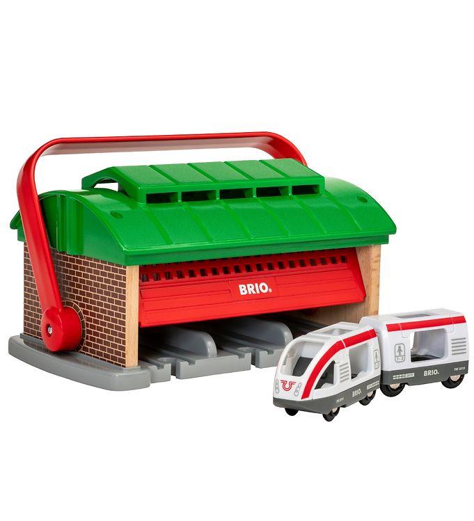 BRIO World Tog Garage m. Håndtag - 3 dele - BRIO,BRIO Trælegetøj - Brio