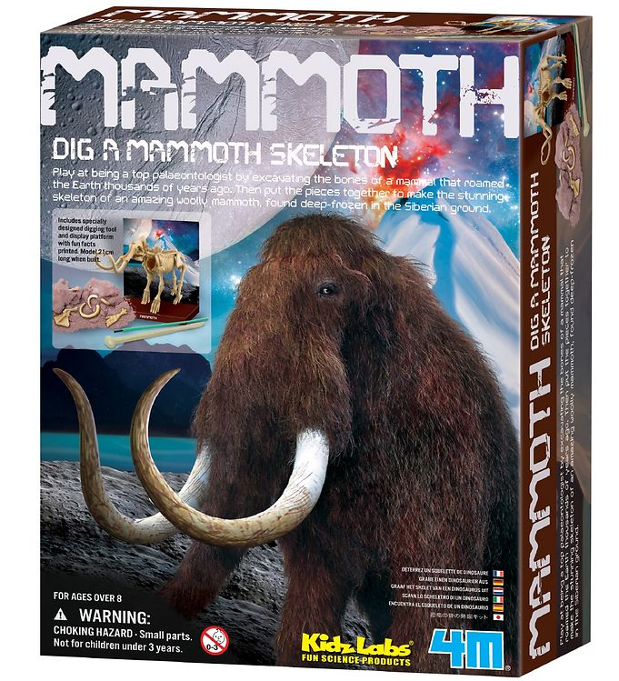 Image of 4M - KidzLabs - Udgravning Mammut (XA220)