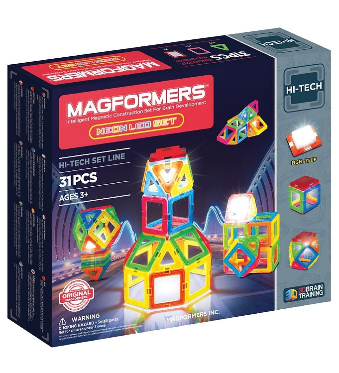 Image of Magformers Neon LED Sæt - 31 dele (XA320)