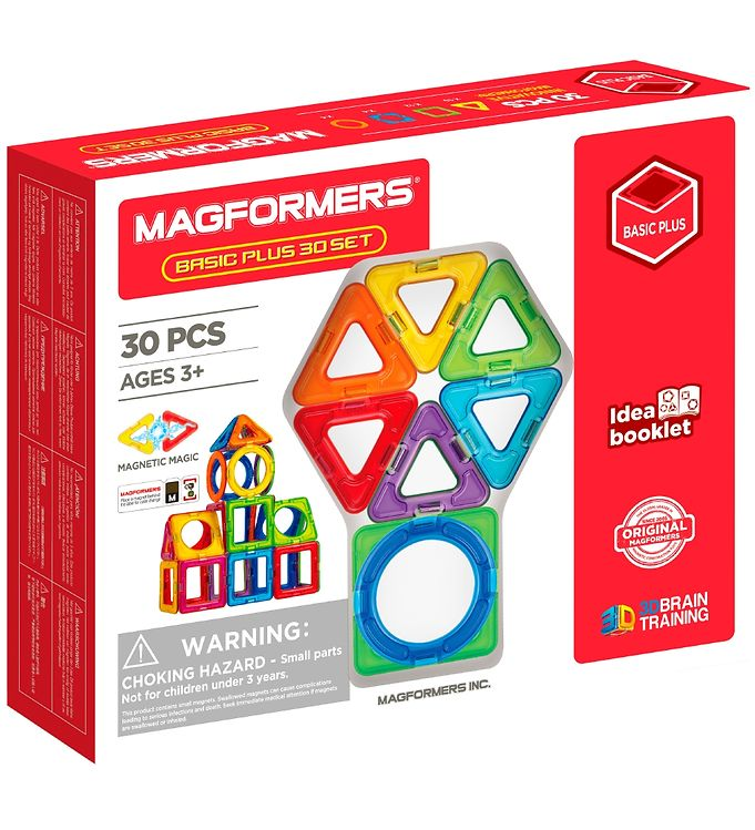 Image of Magformers Basic Plus Sæt - 30 dele (XA328)