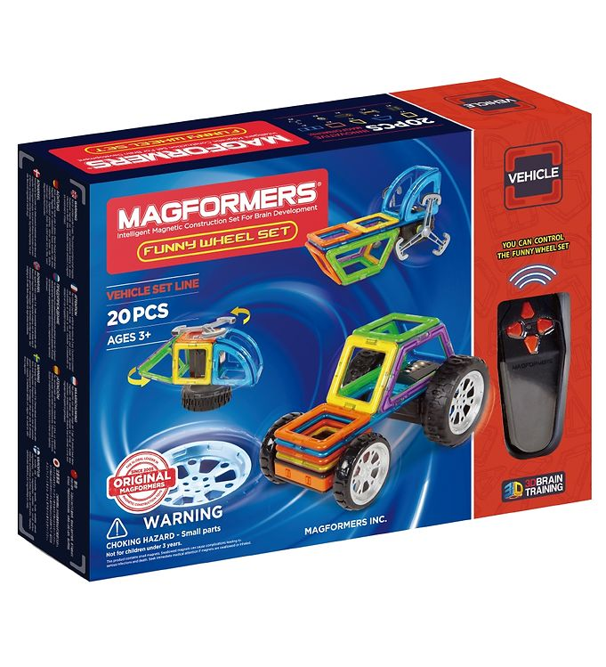 Image of Magformers Funny Wheel Sæt - 20 dele (XA333)