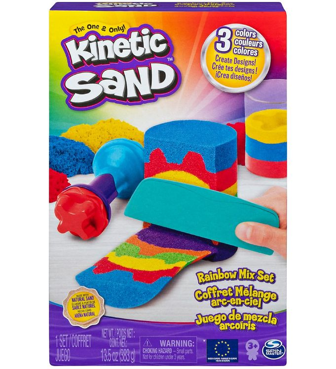 Image of Kinetic Sand Sandsæt - 383 gram - Regnbue (XA380)